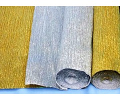 Krepp-paber 50cm x 2,5m - hõbedane