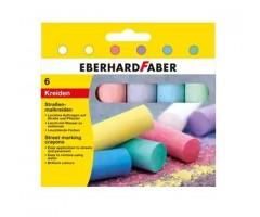 Asfaldikriidid 6 erinevat värvi - EberhardFaber