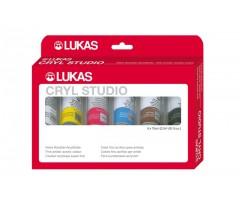Akrüülvärvide komplekt Lukas Studio - 6 x 75ml