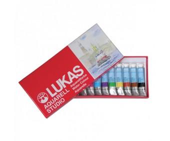 Akvarellvärvid tuubis Lukas Aquarell Studio - 12 x 12ml