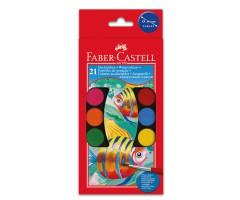 Vesivärvide komplekt Faber-Castell - 21 värvi + pintslid