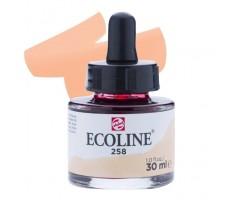 Akvarelltint Talens Ecoline, 30 ml - 258 aprikoos