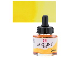Akvarelltint Talens Ecoline, 30 ml - 233 Chartreuse'i kollane