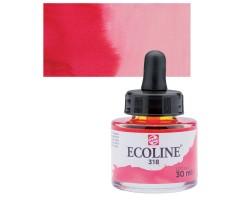 Akvarelltint Talens Ecoline, 30 ml - 318 karmiinpunane