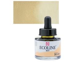 Akvarelltint Talens Ecoline, 30 ml - 801 kuldne