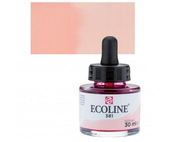 Akvarelltint Talens Ecoline, 30 ml - 381 pastellpunane