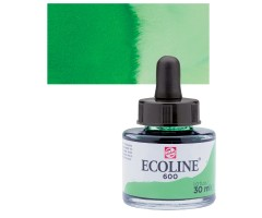 Akvarelltint Talens Ecoline, 30 ml - 600 roheline