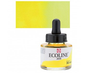 Akvarelltint Talens Ecoline, 30 ml - 205 sidrunkollane