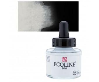Akvarelltint Talens Ecoline, 30 ml - 100 valge