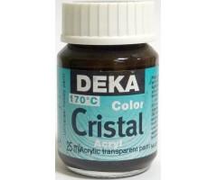 Klaasivärv Deka Cristal (läikiv, läbipaistev), 25 ml - 82 helepruun