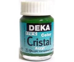 Klaasivärv Cristal (läikiv, läbipaistev), 25 ml - 62 heleroheline - Deka