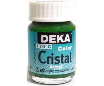 Klaasivärv Deka Cristal (läikiv, läbipaistev), 25 ml - 62 heleroheline