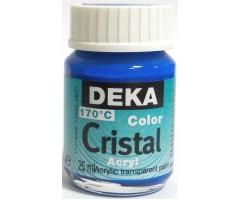 Klaasivärv Cristal (läikiv, läbipaistev), 25 ml - 42 helesinine - Deka