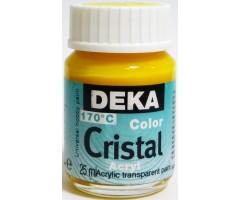 Klaasivärv Cristal (läikiv, läbipaistev), 25 ml - 04 sidrunkollane - Deka