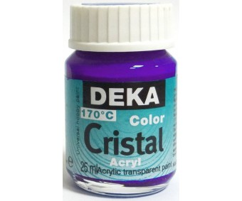 Klaasivärv Deka Cristal (läikiv, läbipaistev), 25 ml - 39 lilla