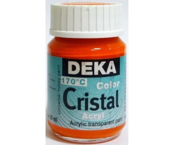 Klaasivärv Deka Cristal (läikiv, läbipaistev), 25 ml - 10 oranž