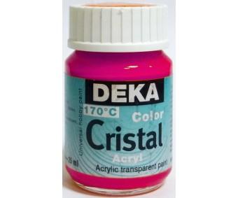 Klaasivärv Deka Cristal (läikiv, läbipaistev), 25 ml - 29 roosa
