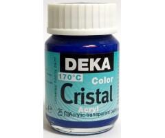 Klaasivärv Deka Cristal (läikiv, läbipaistev), 25 ml - 49 sinine