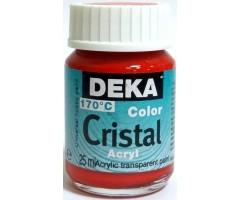 Klaasivärv Cristal (läikiv, läbipaistev), 25 ml - 21 tumepunane - Deka