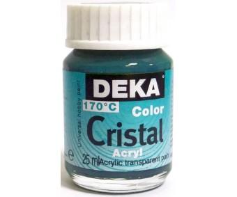 Klaasivärv Deka Cristal (läikiv, läbipaistev), 25 ml - 58 türkiis
