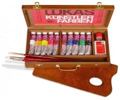 Õlivärvide komplekt Lukas 1862 puidust kohvris