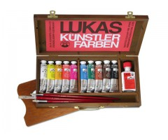 Õlivärvide komplekt Lukas Berlin (vees lahustuvad õlivärvid) kohvris - 10x37ml