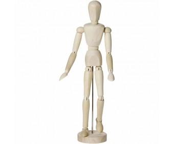 Liigendnukk puidust, 30 cm - mees