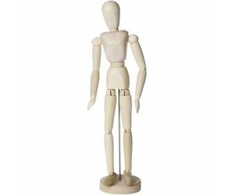 Liigendnukk puidust, 30 cm - naine