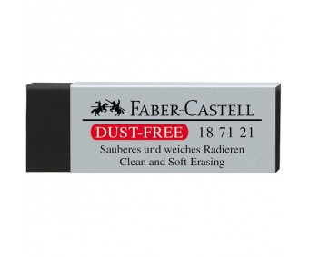 Kustutuskumm Faber-Castell - puruvaba, must