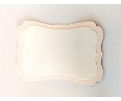 Kartongist lõiked 2 tk - pink quartz