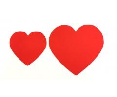Kartongist lõiked 50 tk - punased südamed