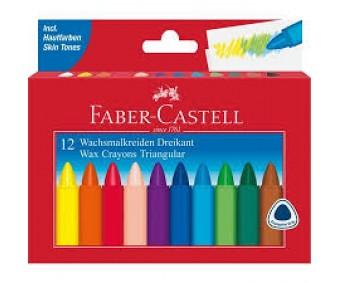 Rasvakriidid Faber-Castell 12 värvi