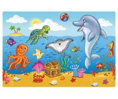 Lauamatt Ocean Friends,  45x30cm, mittelibisev aluspind,  HERMA