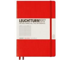 Märkmik Leuchtturm1917 Pocket A6 - ruuduline sisu - punane