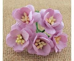 Paberlilled mooruspuu paberist (mulberry) - kirsiõied 5 tk - lilac