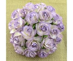 Paberlilled mooruspuu paberist (mulberry) - roosid 30mm 5 tk, lilac