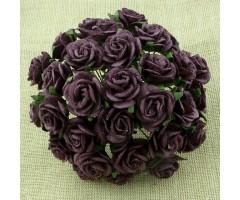 Paberlilled mooruspuu paberist (mulberry) - roosid 10mm 10 tk, plum