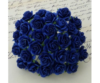 Paberlilled mooruspuu paberist (mulberry) - roosid 15mm 10 tk, royal blue