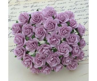 Paberlilled mooruspuu paberist (mulberry) - roosid 15mm 10 tk, lilac