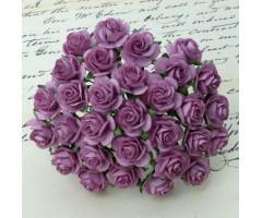 Paberlilled mooruspuu paberist (mulberry) - roosid 20mm 10 tk, dark lilac