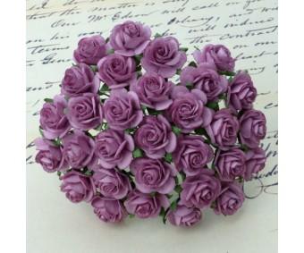 Paberlilled mooruspuu paberist (mulberry) - roosid 25mm 10 tk, dark lilac