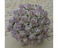 Paberlilled mooruspuu paberist (mulberry) - roosid 15mm 10 tk, pale lilac