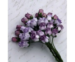 Paberlilled mooruspuu paberist (mulberry) - roosinupud 10mm 40 tk, mixed purple