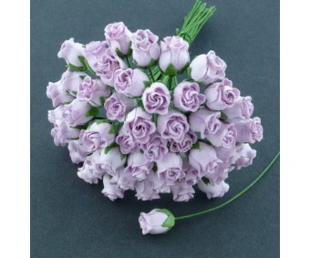 Paberlilled mooruspuu paberist (mulberry) - roosinupud 10mm 50 tk, lilac