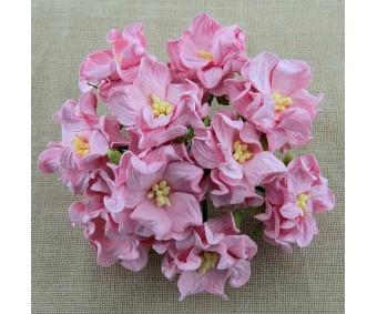 Paberlilled mooruspuu paberist (mulberry) - gardeeniad 5 tk, baby pink