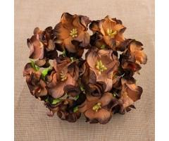 Paberlilled mooruspuu paberist (mulberry) - gardeeniad 5 tk, chocolate