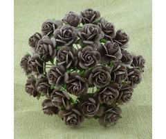 Paberlilled mooruspuu paberist (mulberry) - roosid 15mm 10 tk, walnut