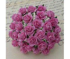 Paberlilled mooruspuu paberist (mulberry) - roosid 15mm 10 tk, pink