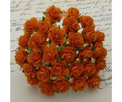 Paberlilled mooruspuu paberist (mulberry) - roosid 15mm 10 tk, oranž