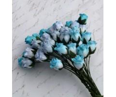 Paberlilled mooruspuu paberist (mulberry) - roosinupud 10mm 40 tk, mixed blue